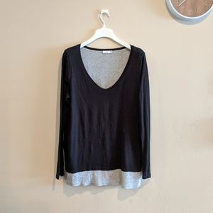Vince dual-layer jersey knit top L